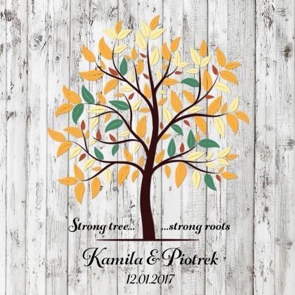 Strong tree - obraz na płótnie na jasnym tle