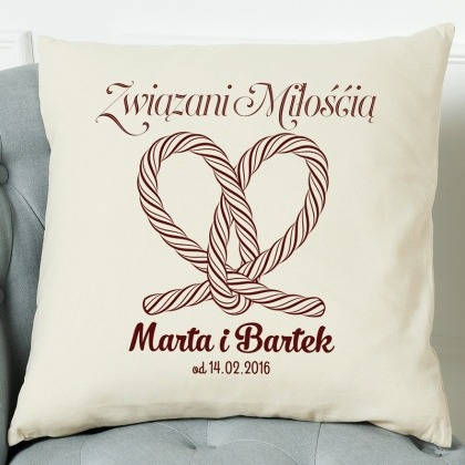 Związani miłością - poduszka dla zakochanych