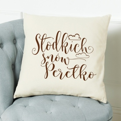 Słodkich snów - poduszka personalizowana