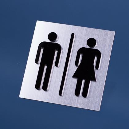 Tabliczka wc męska i damska 100x100