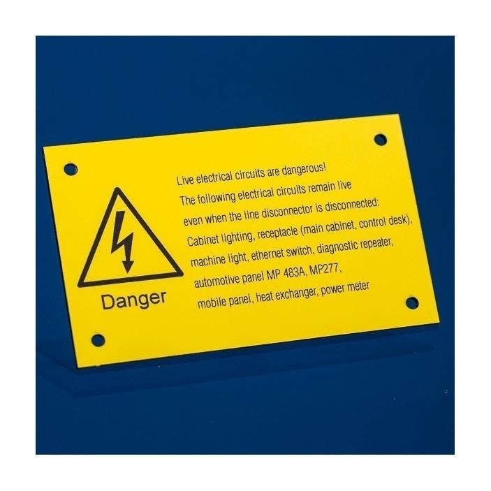 Grawerowane tabliczki ostrzegawcze 10x6cm