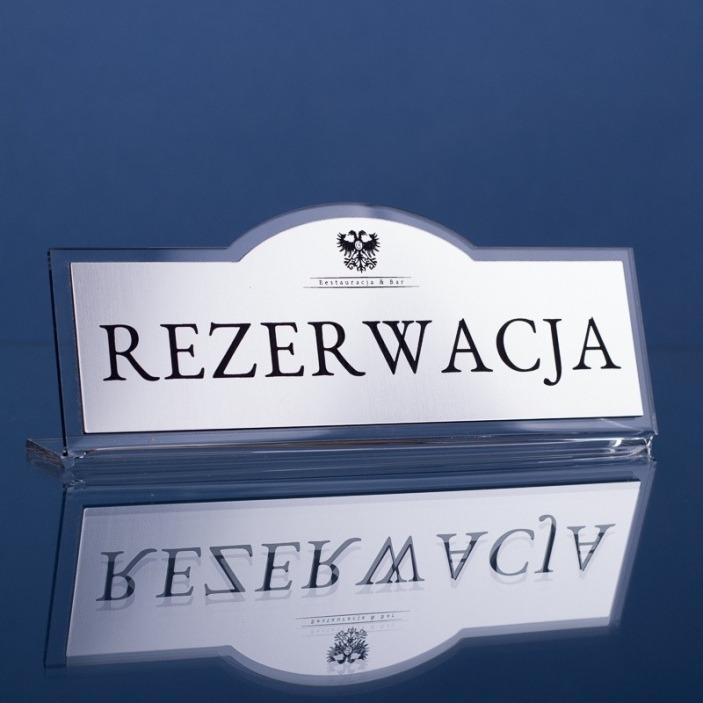 Tabliczka grawerowana rezerwacja cl