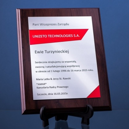 Dyplom podziękowania za współpracę