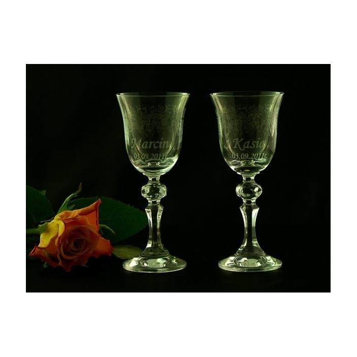 Ślubne kieliszki do wódki z grawerem