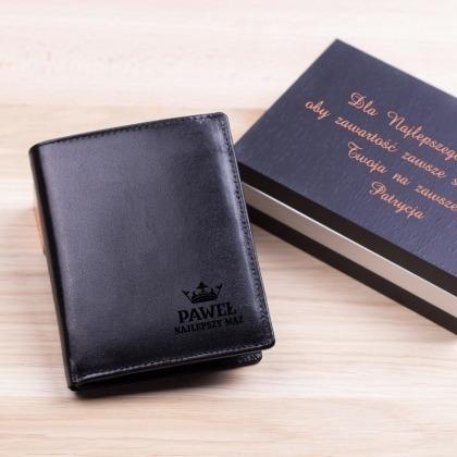 Najlepszy... - grawerowany portfel skórzany